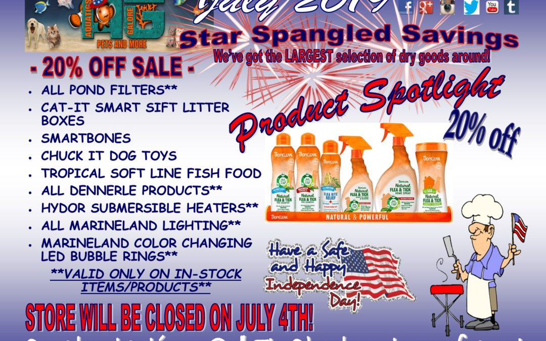 Star Spangled Savings Thru July!