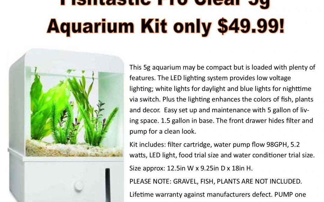 Fishtastic 5g Aquarium Kit